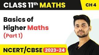 Basics of Higher Maths (Part 1)   Class 11 Maths