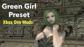 Green Girl Preset Skyrim SE Xbox One Mods