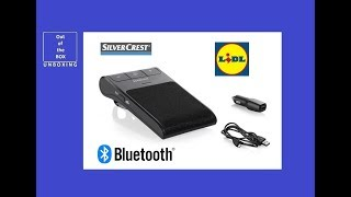 SIlverCrest Bluetooth Hands-free System SBTF 10 D4 UNBOXING (Lidl 1000 MAh 40 Days USB)