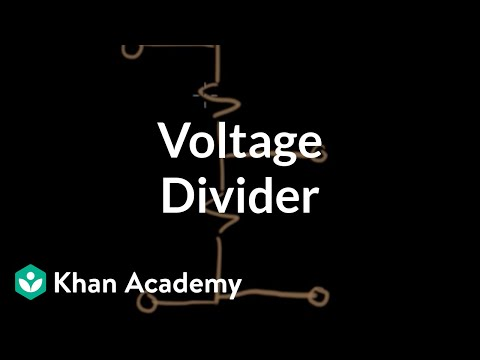 Voltage divider (video) Resistor circuits Khan Academy