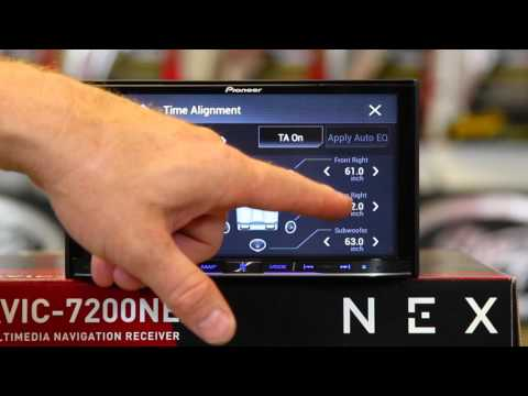 How to use the sound settings on the new Pioneer NEX radio
