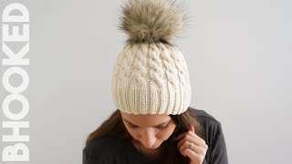 Easy Cable Knit Hat for First Time Cable Knitters