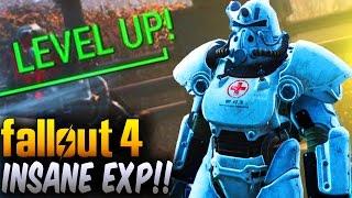 Fallout 4 Insane Fastest EXP Glitch - 10-20k XP Per Minute! (Fallout 4 Glitches After Patch 1.4/1.5)