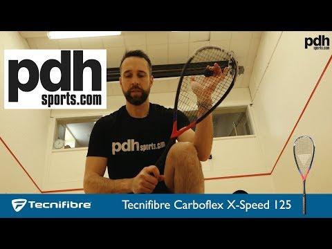 New Tecnifibre Carboflex X-Speed 125 squash racket review by PDHSports.com