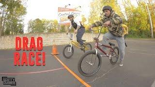 THE BMX DRAG RACE!