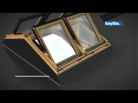 Keylite's Flat Roof Apex System Installation