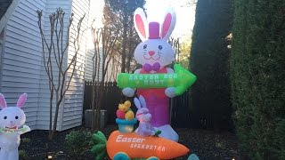 easter inflatable display 2017