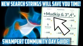 Swampert Community Day Guide For Pokemon GO! New Search Strings To Save Time!