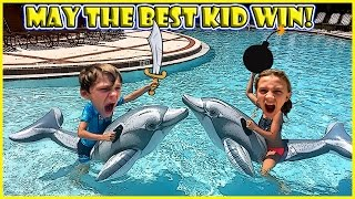 IT'S A BATTLE ON DOLPHINS! | We Are The Davises