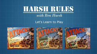 Harsh Rules - Let's Learn To Play ATTACK! by Eagle Games- Basic Rules