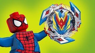 КАК СОБРАТЬ ПРОСТЫЕ ЛЕГО БЕЙБЛЭЙДЫ? Новые лего мультики Человек паук, Бетмен 2018,