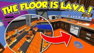 Minecraft ITA - THE FLOOR IS LAVA Nella CUCINA - (FINALE) - W/SpJockey