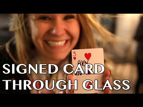 Signed Card Through Window Magic Trick