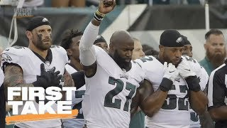 Chris Long Supports Eagles Teammate Malcolm Jenkins' National Anthem Protest | First Take | ESPN
