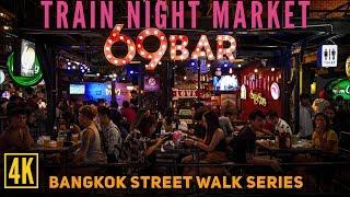 Ratchada Rod Fai Train Night Market Street Walk, Where You Have to Go in Bangkok!