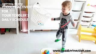 Easy, Fun Indoor Toddler Activities At Home, Gross Motor Activities, Physical Activities Basket Ball