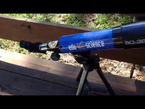 Review Edu Science Land & Sky 360 Tabletop Refractor Telescope – Blue