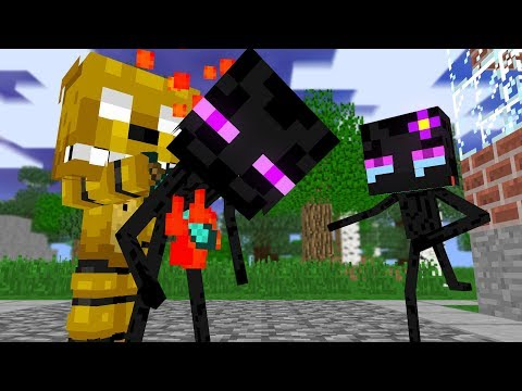 Monster School: Enderman Dies |SFM |Two Evil Eyes End - Minecraft Animation