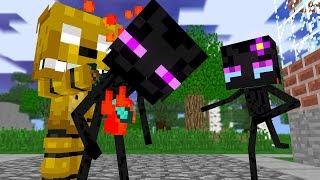 Monster School: Enderman Dies  SFM  Two Evil Eyes End - Minecraft Animation