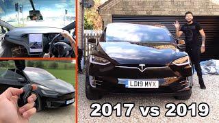 Tesla Model X 2017 Vs 2019 Comparison - New P100DL AP3 HardWare Model X Fully Loaded Tested!