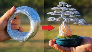 How did I turn Old Wire into a Beautiful GLOWING Bonsai? I'll show you