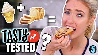 I Tried Tasty Buzzfeed 2 INGREDIENT ICE CREAM BREAD... Was it Any Good?!