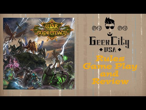 War Of Supremacy - Rules Overview, Game Play Example, and Review