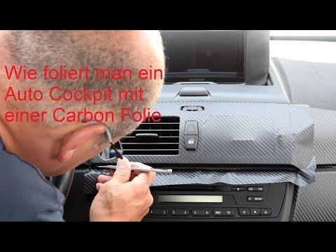 Auto Cockpit mit Carbon Folie folieren