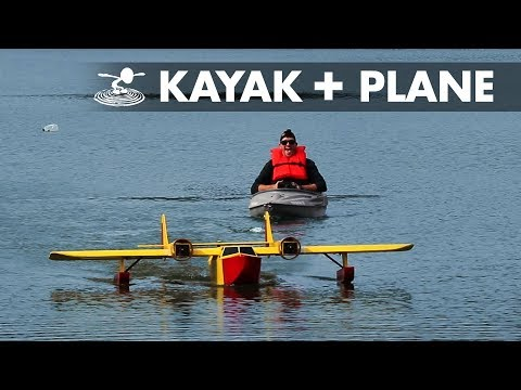 giant-rc-plane-pulls-kayak--sea-duck