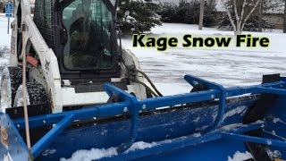 Snow Plowing | Commercial Parking Lot | Kage Snow Plow
