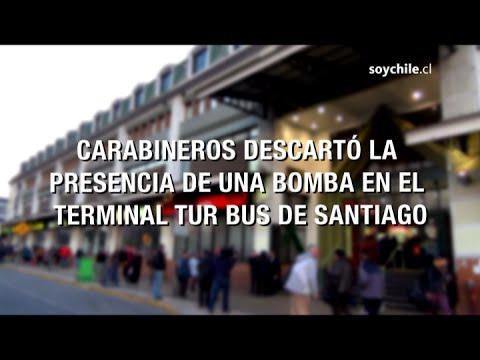 Carabineros descartó la presencia de una bomba en el terminal Tur Bus de  Santiago  c665d469d9985