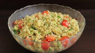 מתכון לסלט בריא עם קינואה עגבניות ואבוקדו