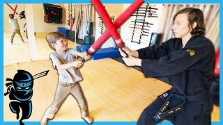NINJA KIDZ Training IN REAL LIFE from THE REAL GAME MASTER