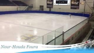preview picture of video 'Nour-Houda Foura Compétition de patinage artistique INVITATION TERREBONNE Québec 2014'