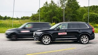 Range Rover Sport 2015 fails brake test (vs Volvo XC90)