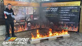 Short Demo of Fire Safety Stick with Petrol