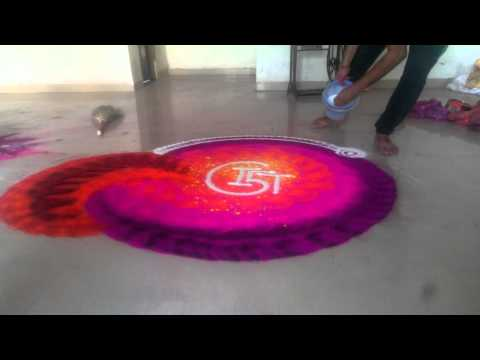 india's fastest rangoli design by rahul swami