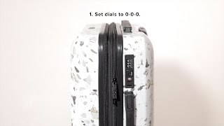 CALPAK Flat TSA Lock Instructions