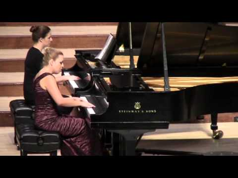During the finals of the concerto competition. Snippet of MacDowell's 2nd Piano Concerto in D minor.