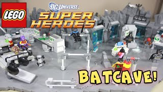 LEGO BATMAN - BATCAVE MOC - SUIT ROOM & GYM - DC SUPERHEROES
