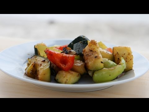 Easy Beach Grilled Veggies Recipe – Laura Vitale – Laura in the Kitchen Episode 441