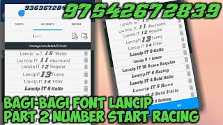 Download Font Lancip Number Start Racing PART 2 | BAGI-BAGI