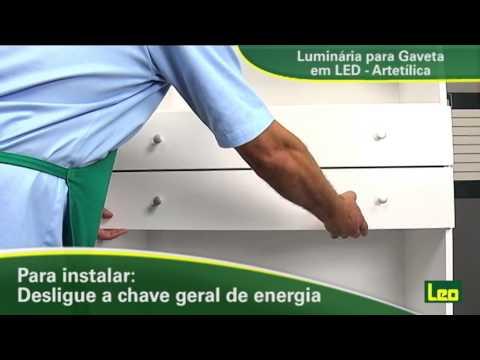 Luminária para gaveta Artetílica