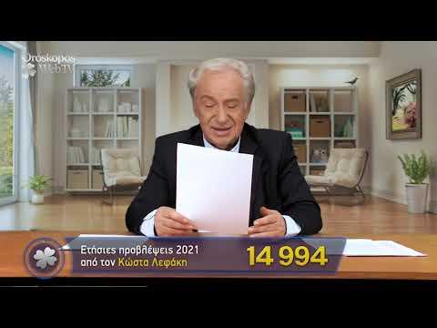 Ταύρος 2021 Ετήσιες Προβλέψεις Κώστα Λεφάκη σε βίντεο