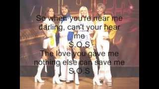ABBA S.O.S 1975 Lyrics (english-spanish)
