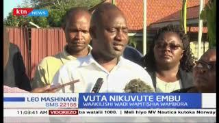Waakilishi wadi wamtishia Gavana wa Embu Martin Wambora kuhusu matumizi ya pesa