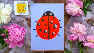 Смотреть онлайн Урок рисования красками для начинающих детей
