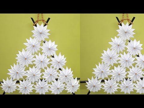 Paper Flower Wall Hanging Craft Ideas | DIY Hanging Flower Showpiece ...