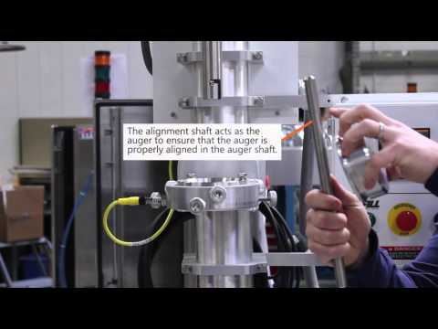 Auger Filler Alignment | How-To Demonstration | All-Fill Inc - Model B-SV-600 - sold by All-Fill