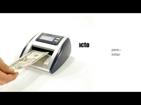 Contador y Detector de Billetes Dolares y Euros Falsos D500